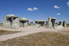 Actraction von carhenge, Nebraska USA Lizenzfreie Stockbilder