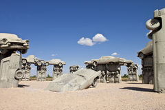 Actraction von carhenge, Nebraska USA Stockbilder