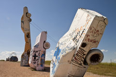 Actraction von carhenge, Nebraska USA Lizenzfreies Stockfoto