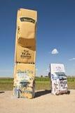 Actraction von carhenge, Nebraska USA Lizenzfreies Stockbild