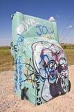Actraction von carhenge, Nebraska USA Stockfotografie