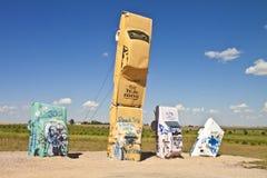 Actraction von carhenge, Nebraska USA Lizenzfreies Stockfoto