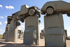 Actraction von carhenge, Nebraska USA Stockbild