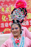 Actress. The close-up of actress of the Spring Festival Temple Fair in Taiyuan, Shanxi, China Royalty Free Stock Photo