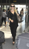 Actress Ali Larter is seen at LAX. LOS ANGELES-AUGUST 29: Actress Ali Larter is seen at LAX . August 29th in Los Angeles, California 2010 Royalty Free Stock Image
