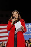 Actress America Ferrera speaks to a Hillary Clinton campaign rally at the Clark County Government Center Amphitheater in Las Vegas Royalty Free Stock Photo
