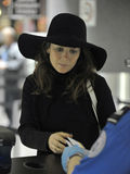 Actress Anna Friel at LAX airport Stock Photo