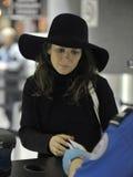 Actress Anna Friel at LAX airport Stock Photo
