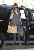 Actress Anne Hathaway at LAX airport Stock Image