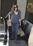 Actress Anne Hathaway at LAX airport Royalty Free Stock Image