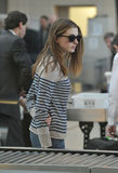 Actress Anne Hathaway at LAX airport. Royalty Free Stock Images