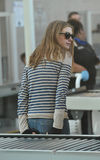 Actress Anne Hathaway is seen at LAX airport Royalty Free Stock Images