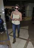 Actress Ashley Greene at LAX Stock Photos
