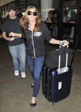 Actress Ashley Greene is seen at LAX Royalty Free Stock Photos