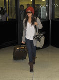 Actress Ashley Tisdale is seen at LAX Stock Photo