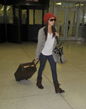 Actress Ashley Tisdale is seen at LAX Stock Photos