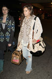 Actress Ashley Tisdale is seen at LAX Stock Image