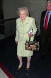 Actress Betty White is seen at LAX Royalty Free Stock Photos