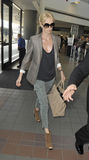 Actress Charlise Theron at LAX airport Royalty Free Stock Photo