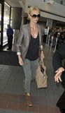 Actress Charlise Theron at LAX airport. Royalty Free Stock Photography