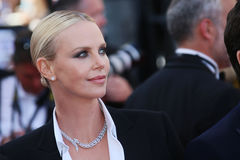 Actress Charlize Theron attends `The Last Face` Royalty Free Stock Images