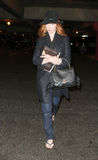 Actress Christina Hendricks is seen at LAX Stock Photo