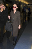 Actress Christina Ricci at LAX airport. Royalty Free Stock Photo