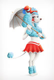 Actress circus, poodle Royalty Free Stock Images
