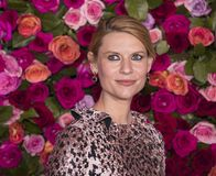Claire Danes at 2018 Tony Awards. Actress Claire Danes arrives on the red carpet for the 72nd Annual Tony Awards held at Radio City Music Hall in New York City royalty free stock images
