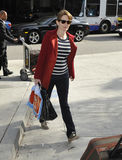 Actress comedian Tina Fey at LAX airport. LOS ANGELES-APRIL 17: Actress comedian Tina Fey at LAX airport. April 17 in Los Angeles, California 2011 Royalty Free Stock Image