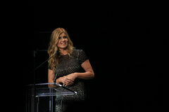 Actress Connie Britton Speaking at Black Tie Dinner Stock Photo