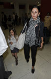 Actress Courtney Cox & daughter Coco at LAX Royalty Free Stock Images
