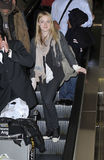 Actress Dakota Fanning is seen at LAX Royalty Free Stock Image
