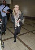 Actress Dakota Fanning is seen at LAX Stock Photos