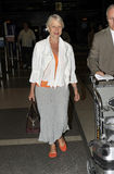 Actress Dame Helen Mirren at LAX airport. Royalty Free Stock Photos