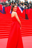 Actress Daria Moroz at Moscow Film Festival. MOSCOW - JUNE 19, 2015: Actress Daria Moroz at XXXVII Moscow International Film Festival red carpet opening ceremony Royalty Free Stock Photography