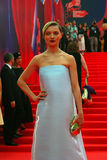 Actress Ekaterina Vilkova in shining dress at Moscow Film Festival Royalty Free Stock Image