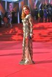 Actress Elena Zakharova at Moscow Film Festival Royalty Free Stock Photo