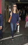 Actress Elizabeth Hurley at LAX airport Stock Images