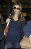 Actress Elizabeth Hurley at LAX airport. Stock Images