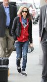 Actress Ellen Page is seen at LAX Royalty Free Stock Photos