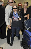 Actress Ellen Page is seen at LAX Stock Photos