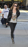 Actress Emily Blunt at LAX airport. LOS ANGELES-APRIL 15: Actress Emily Blunt at LAX airport. April 15 in Los Angeles, California 2011 Stock Photography
