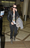 Actress Emily Blunt at LAX airport Stock Photos