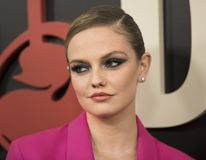 Emily Meade. Actress Emily Meade arrives on the red carpet for the New York premiere of HBO`s multi-part drama, `The Deuce.`  The dramatic series follows the Royalty Free Stock Image