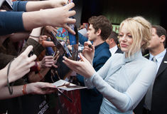 Actress Emma Stone. MOSCOW, RUSSIA, JUNE, 15: Actress Emma Stone. Premiere of the movie The Amazing Spider-Man, June,15, 2012 at OCTOBER CINEMA in Moscow, Russia Stock Photography
