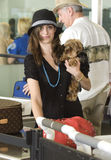 Actress Emmy Rossum is seen at LAX Stock Photos