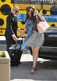 Actress Emmy Rossum is seen at LAX airport Stock Photo