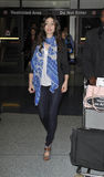 Actress Emmy Rossum is seen at LAX airport Royalty Free Stock Photos