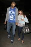 Actress Eva Longoria & husband Tony Parker at LAX Royalty Free Stock Photography